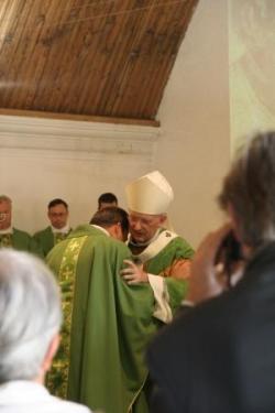 L'accueil par l'archevêque
