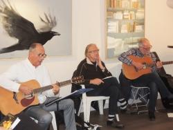 """Les musiciens à la soirée """"Poésies singulières"""""""