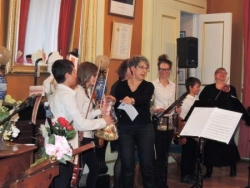 Remerciement aux élèves de l'école de violon