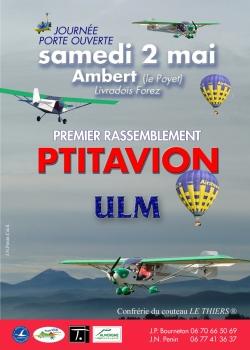 Affiche du 1er rassemblement Ptitavion