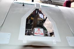 plexi de toit modifié pour éjection parachute
