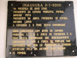 Placa no Salao