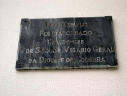 Placa na Igreja da Ilha