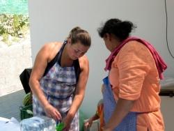 AS cuzinheiras ao servico