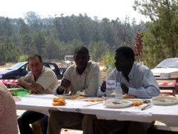 Rapazes da Guine na nossa festa