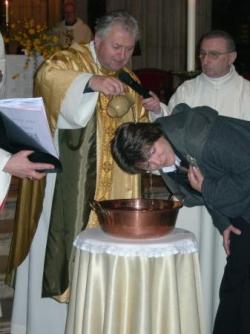 baptême de la jeune mère de famille