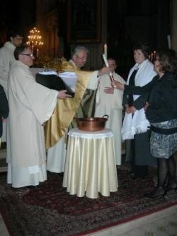 remise de la lumière à la nouvelle baptisée