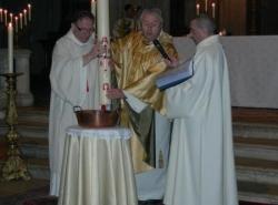 bénédiction de l'eau pour les baptêmes