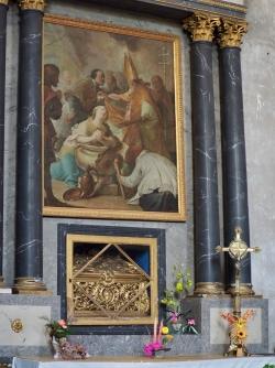 Moyenmoutier-le baptême de Ste Odile