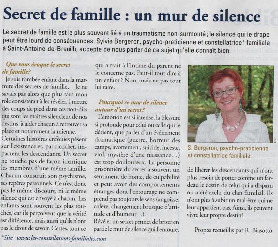 Secret de famille un mur de silence article dans terres de foy mars 2017 - Mur de photos de famille ...