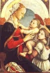 Vierge à l'enfant et un ange