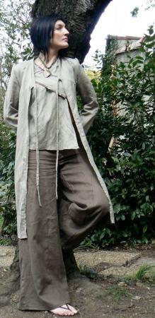 longue veste en lin