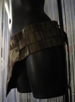 ceinture poche , en coton motif carreau