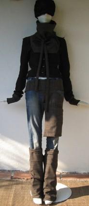 châle,ceinture-poche, guêtre