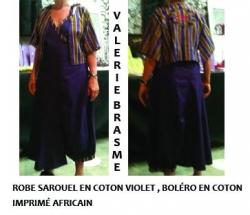 robe sarouel coton violet