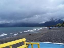 Lago Villarica, il fait pas beau mais c'est beau q