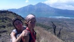 Avec Laure au Mont Batur