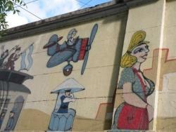 Musée du Tramway, Graffiti