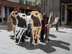 Manifestation en carton