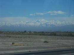 Les Andes en arrivant a Mendoza