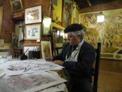 Le peintre Gasparini à San Antonio de Areco