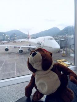 Norbert a l'aeroport de Hong Kong
