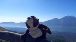 Norbert au sommet du Batur, dis Norbert t'as pas f