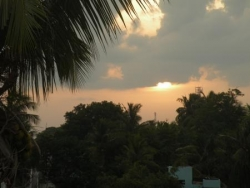 Coucher de soleil, Mamallapuram