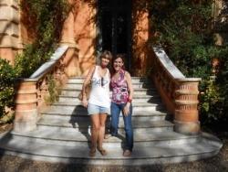 Avec Manue à la villa Ocampo