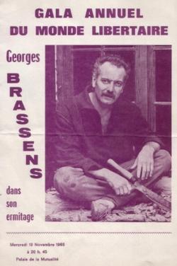 G.Brassens, gala 1965 du Monde Libertaire
