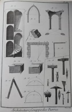 Encyclopédie Diderot. Maçonnerie, planche