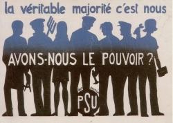 Parti Socialiste Unifié. Affiche, 1968