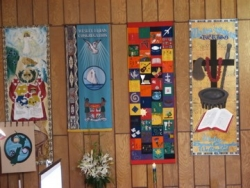 Multicultural banners, Wesley Church