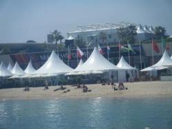 Le palais vu de la plage Majestic 62