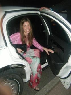 L'arrivée en limousine à la villa Murano
