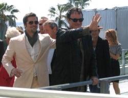Brad Pitt et Quentin Tarantino (conférence de pres
