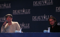 Brad Pitt et Andrew Dominik pour la conférence de