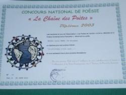 La chaîne des poètes 2003