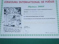 Concours international de poésie 2003