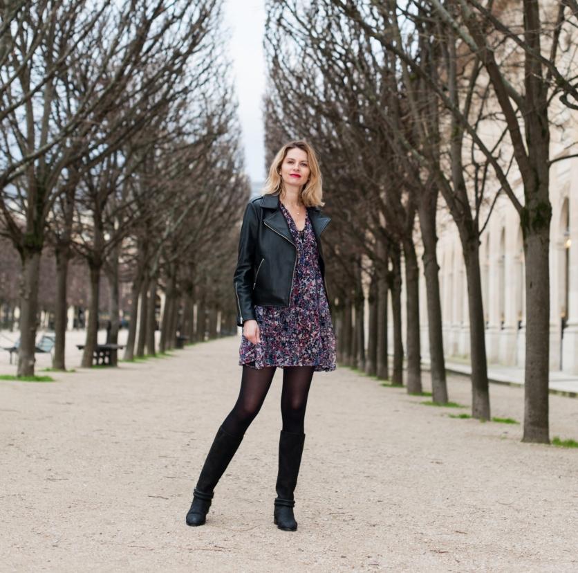 Veste cuir comptoir des cotonniers 2018