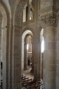 L'intérieur de l'abbaye de Conques