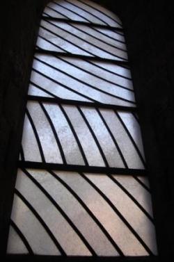 Vitrail de l'abbaye de Conques, par Soulages