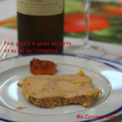 foie gras la gel e de porto et au sel de l 39 himalaya ma. Black Bedroom Furniture Sets. Home Design Ideas