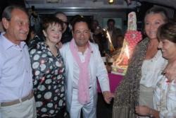 Avec sheila, B. Delanoë, F. Thibault et M. humbert
