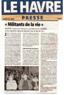 Le Havre Presse - 8 mars 2009