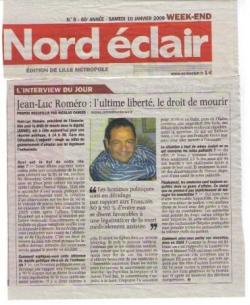 Interview Nord Eclair - 10 janvier 2009