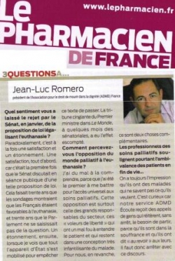 Le journal des Pharmaciesn - avril 2011