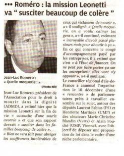 Nouvelle République - décembre 2008