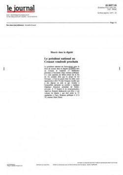 Journal de Saône et Loire - 5 sept 2009