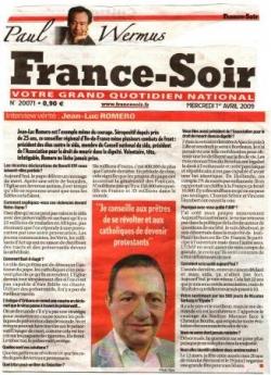Interview par Paul Wermus - France Soir - 1er avri